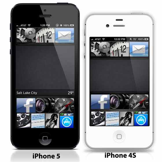 Comparatif iPhone 4S versus iPhone 5